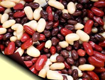 Kidney Beans And Black Beans Stock Photo