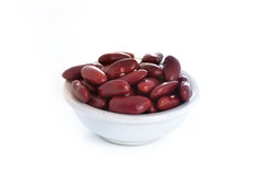 Kidney beans in a bowl Isolated Royalty Free Stock Images