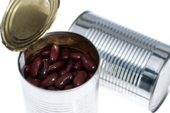 Kidney Beans in a can (on white) Royalty Free Stock Photography