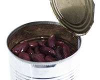 Kidney Beans in a can (on white) Royalty Free Stock Image