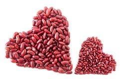 Kidney Beans Hearts Stock Photo