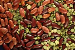 Kidney beans  and pea texture Royalty Free Stock Photos
