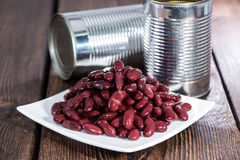 Kidney Beans on a plate (with can) Stock Image