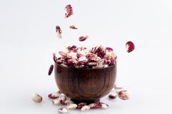 Kidney beans spilled Stock Photos