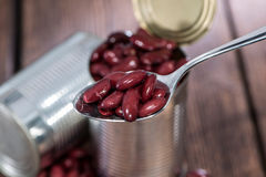 Kidney Beans on a Spoon Stock Photos
