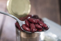 Kidney Beans on a Spoon Stock Photography