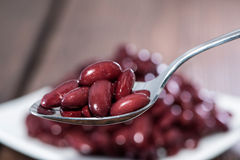 Kidney Beans on a Spoon Stock Photo
