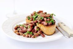 Kidney Beans on Toast Stock Photo
