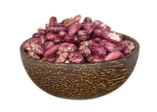 Kidney beans in wooden bowl Stock Photos