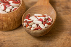 Kidney Beans on a wooden table Stock Photography