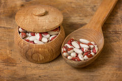 Kidney Beans on a wooden table Stock Photos