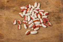 Kidney Beans on a wooden table Royalty Free Stock Photo