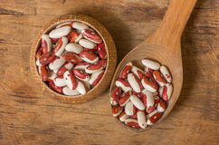 Kidney Beans on a wooden table Royalty Free Stock Photos
