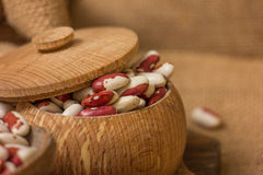 Kidney Beans on a wooden table Royalty Free Stock Image