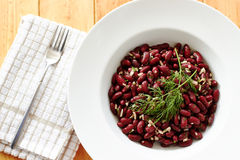 Kidney beens dish on white plate Royalty Free Stock Photo