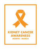 Kidney cancer awareness Stock Photo
