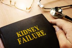 Kidney failure or end-stage renal disease ESRD. Kidney failure or end-stage renal disease ESRD concept Stock Photos