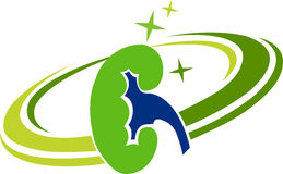 Kidney logo Stock Photography