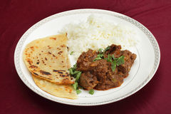 Kidney masala meal side view Stock Photography