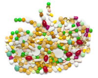 Kidney of pills and capsules Stock Photography