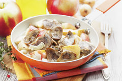 Kidneys beef in cider Royalty Free Stock Photos