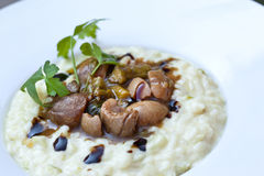 Kidneys and risotto Stock Image