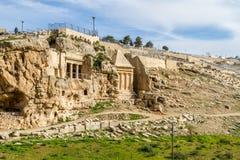 Kidron Valley, Gerusalemme Fotografie Stock