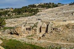 Kidron Valley, Gerusalemme Fotografia Stock Libera da Diritti