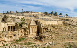 Kidron Valley Jerusalem Royaltyfri Bild