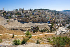 Kidron valley in Jerusalem Royalty Free Stock Photos