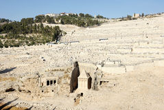 Kidron Valley and the Mount of Olives. The holy places of the three religions in Israel - Kidron Valley and the Mount of Olives Stock Photos