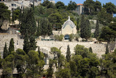 Kidron Valley and Mount of Olives Royalty Free Stock Photo