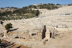 Kidron Valley and the Mount of Olives in Israel. The holy places of the three religions in Israel - Kidron Valley and the Mount of Olives Stock Photography