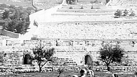 Kidron Valley old panorama stock video footage