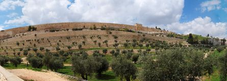 Kidron Valley and the Temple Mount in Jerusalem Royalty Free Stock Image
