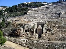 Kidron Valley, the tomb of Absalom Stock Photography