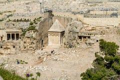 Kidron Velley или короля Velley, Иерусалим Стоковое фото RF
