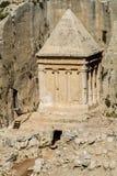 Kidron Valley or Kings Valley, Jerusalem. Kidron Valley or Kings Valley, Tomb of Zechariah near the Old City of Jerusalem Royalty Free Stock Photo