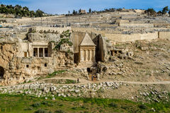 Kidronvallei, Jeruzalem Stock Foto