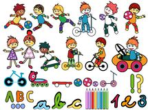 Kids stock illustration