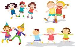 Kids. Illustration of kids on white Stock Image