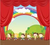 Kids. Illustration of a kids on stage