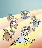 Kids. Group of kids playing  illustration Royalty Free Stock Image