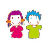 Kids. Lovely children girls and boys Royalty Free Stock Photo