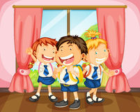 Kids. Illustration of a kids in room near a window Royalty Free Stock Image