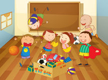 Kids. Detailed illustration of kids in a classroom Royalty Free Stock Image