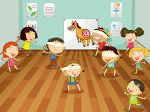 Kids. Illustration of kids playing games in a room Royalty Free Stock Images