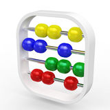 Kids Abacus. On white background Stock Image