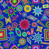 Kids abstract seamless pattern. Royalty Free Stock Photography