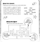 Kids activity page game stock photo